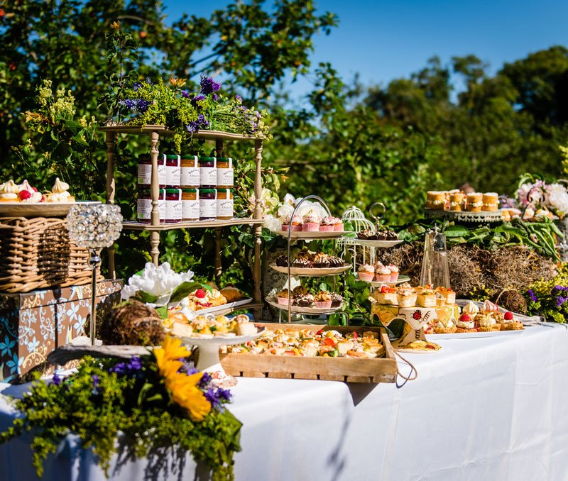 wexford home preserves Jars at launch with table
