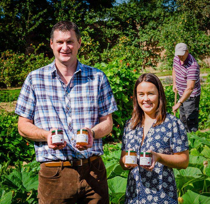 wexford home preserves Tom and Laura with Gardeners at Launch